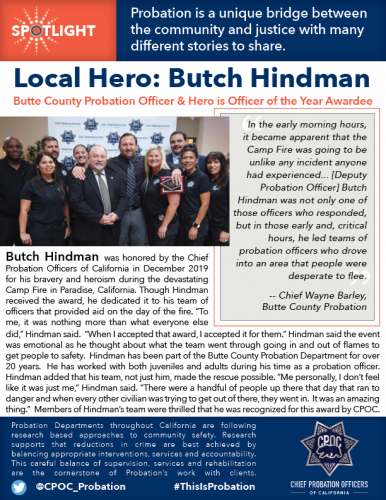 Butch Hindman and his team from Butte Probation & Chief Wayne Barley