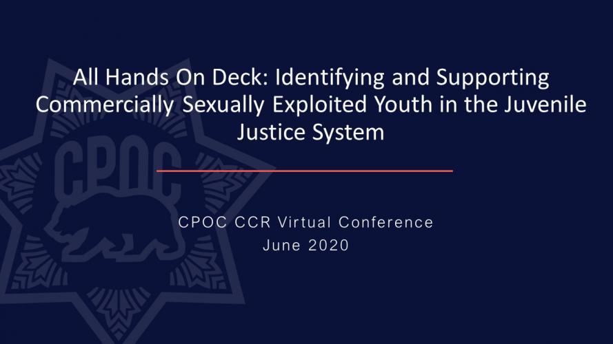 CCR Virtual Conference