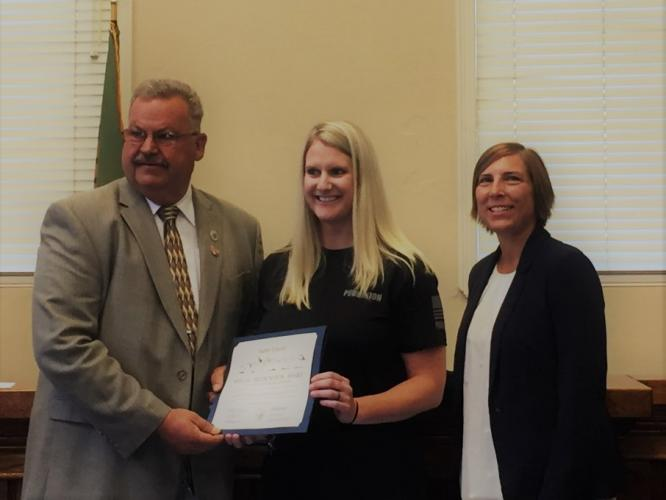 Deputy Probation Officer recognized for saving the life of a young man threatening suicide
